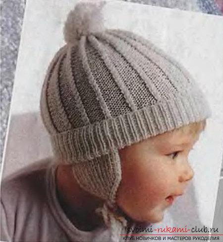 теплая детская шапочка.
