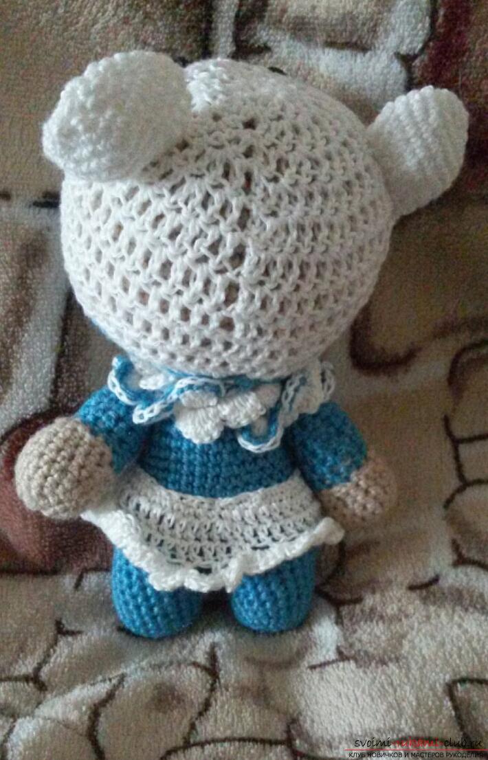 Вязаная малышка Йо-йо - вязание крючком для начинающих схемы