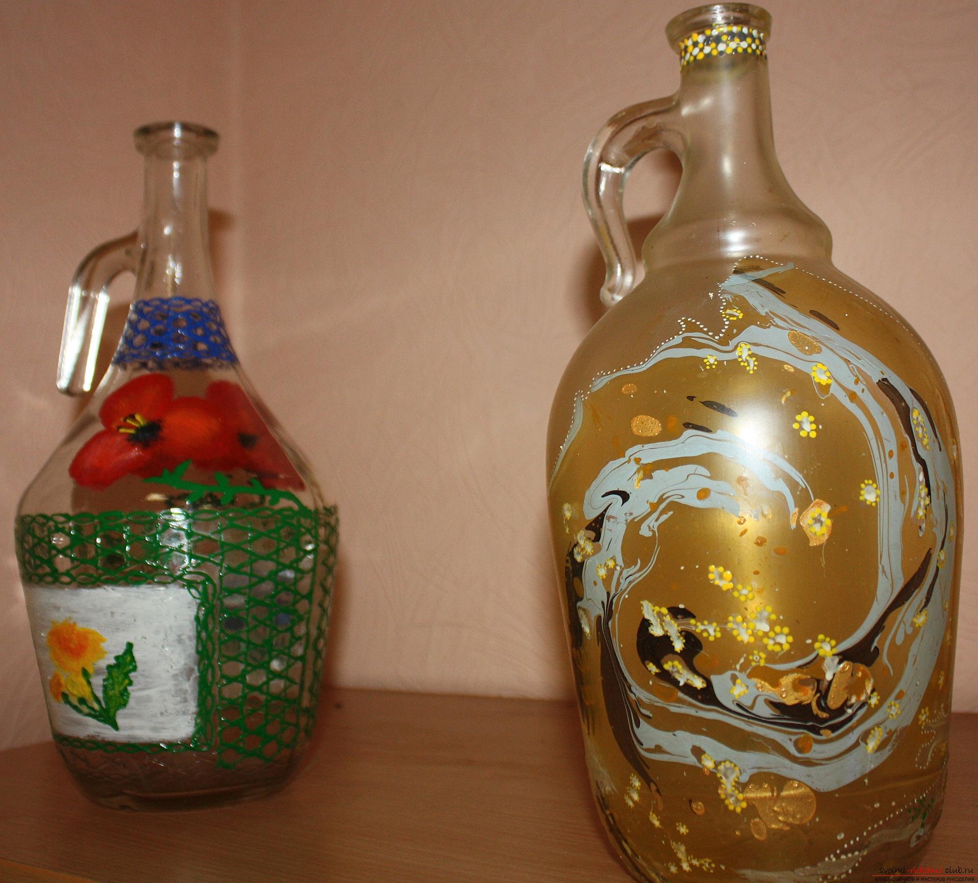 Поделки своими руками стеклянные бутылки