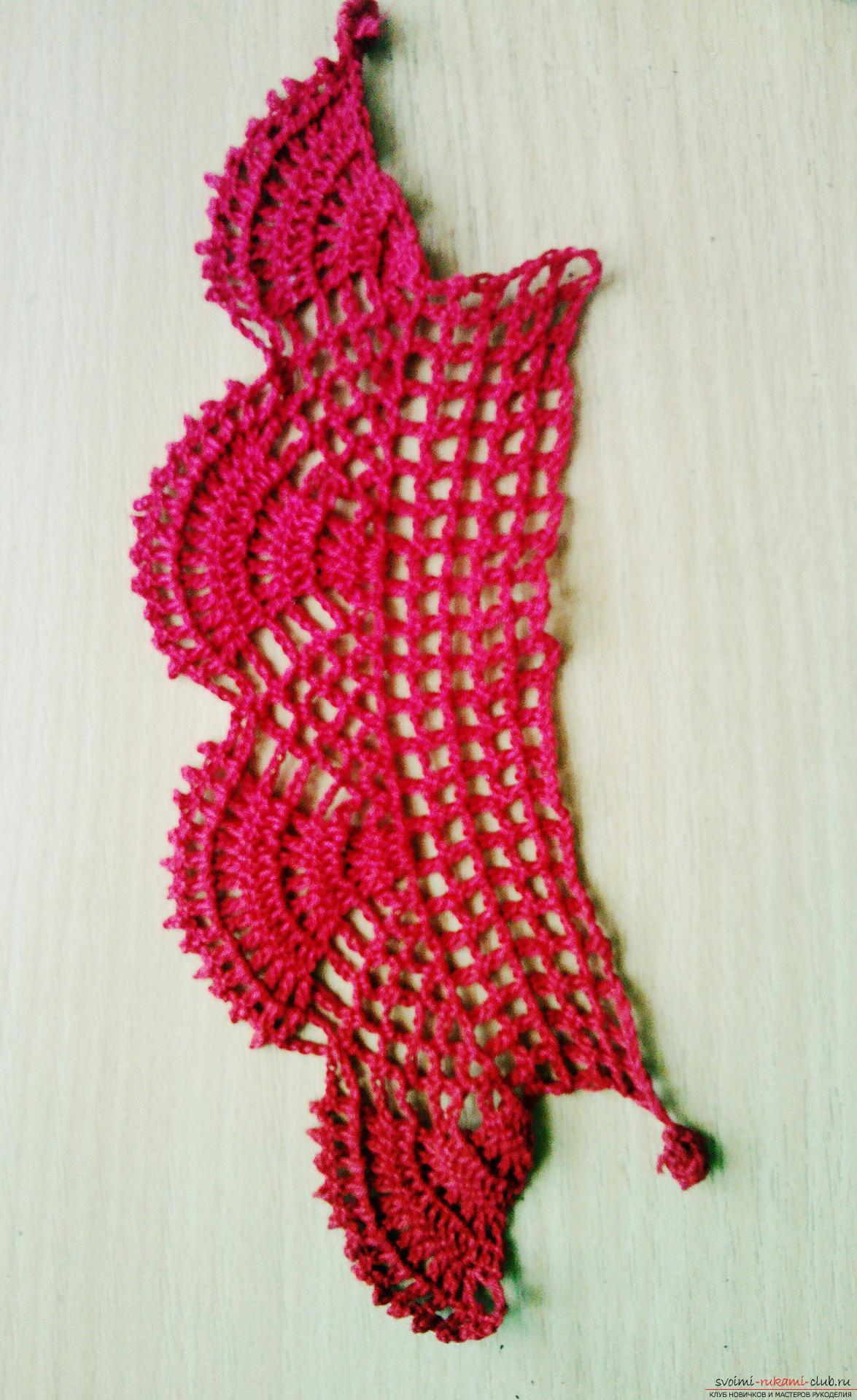 Вязаный браслет-манжета - вязание крючком для начинающих ...