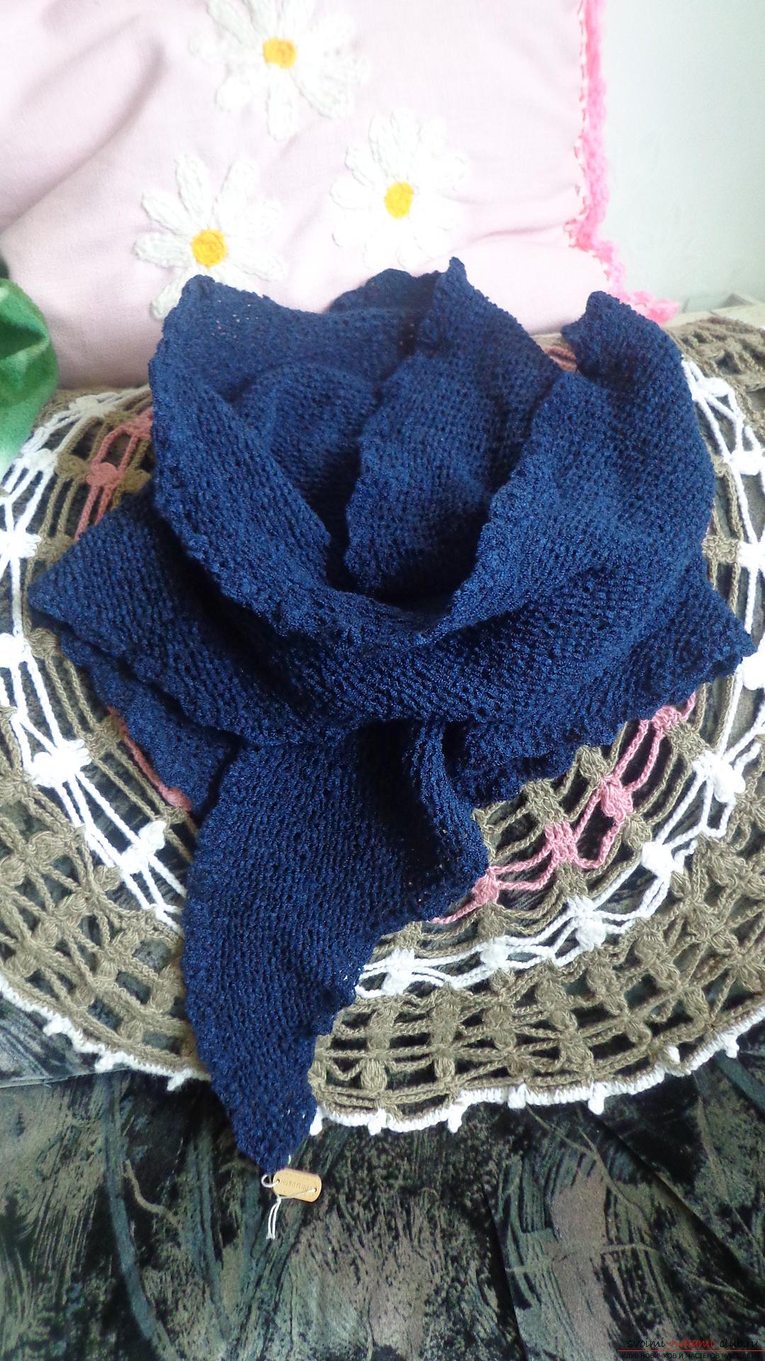 вязание из трикотажной пряжи спицами