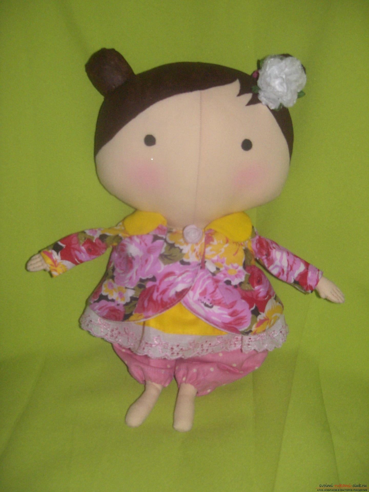 Куклы своими руками из ткани: пошаговые мастер-классы с фото 54
