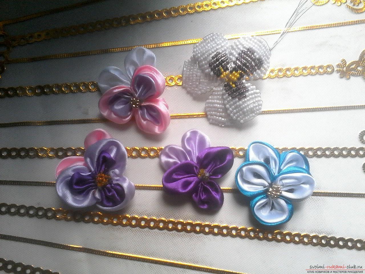 Цветы для украшения платья из ткани своими руками - Pinterest