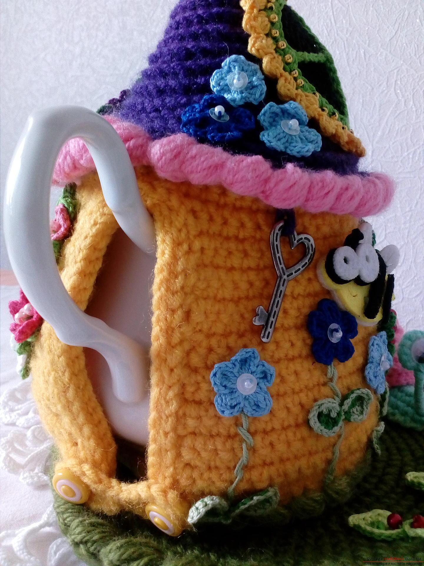 Крючком грелку на чайник своими руками 281