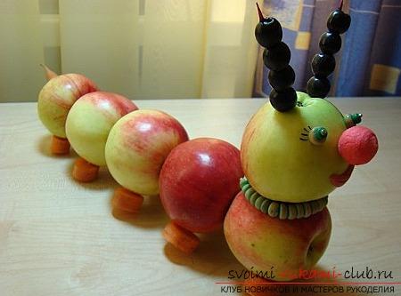 Осенние поделки из овощей и фруктов. Фото №43