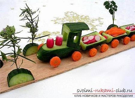 Осенние поделки из овощей и фруктов. Фото №12