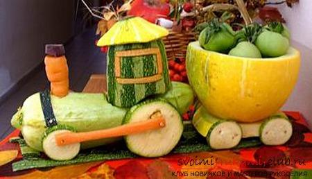 Осенние поделки из овощей и фруктов. Фото №11