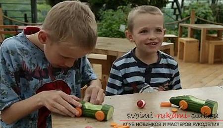 Осенние поделки из овощей и фруктов. Фото №15