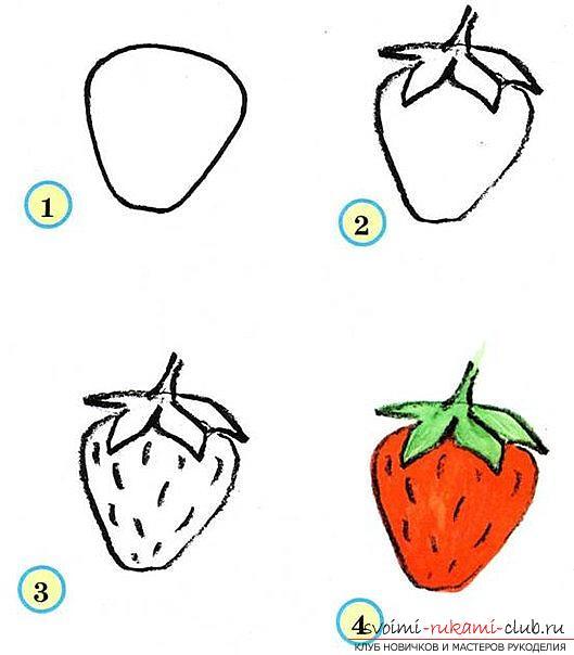 Традиционное рисование овощей и фруктов в старшей группе. Фото №5