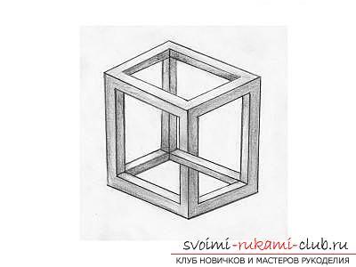 Урок рисования 3d изображения для начинающих. Фото №5