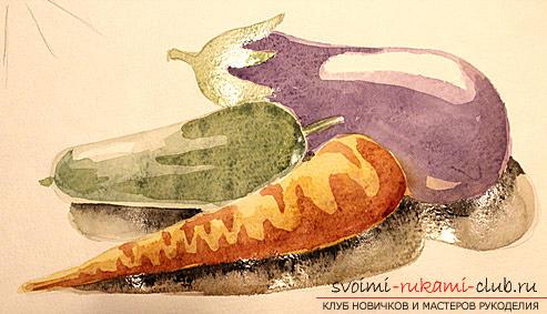 Рисование натюрморта при помощи красок акварельных. Фото №9