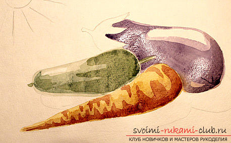 Рисование натюрморта при помощи красок акварельных. Фото №8