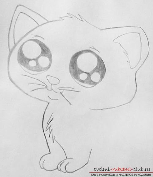картинки котят на срисовку