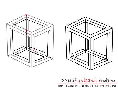 Урок рисования 3d изображения для начинающих. Фото №4