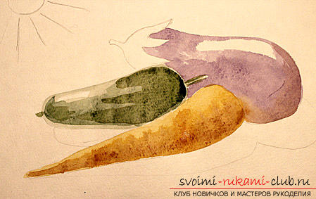 Рисование натюрморта при помощи красок акварельных. Фото №7