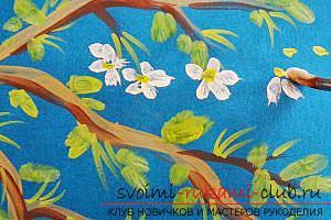 Как нарисовать весеннюю яблоневую ветку поэтапно. Фото №8