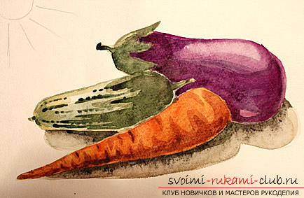 Рисование натюрморта при помощи красок акварельных. Фото №11