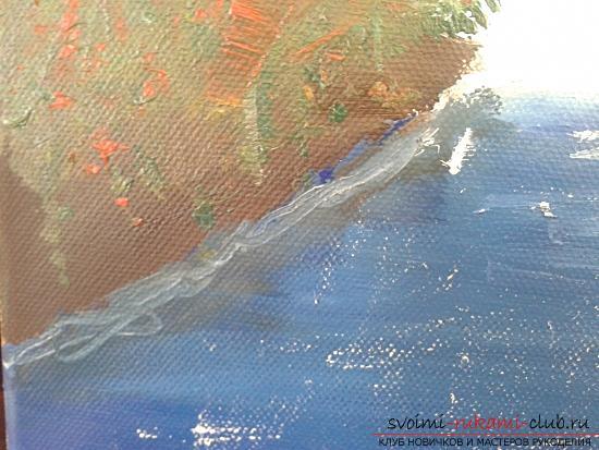 Рисование лесного пейзажа с водопадом поэтапно. Фото №9