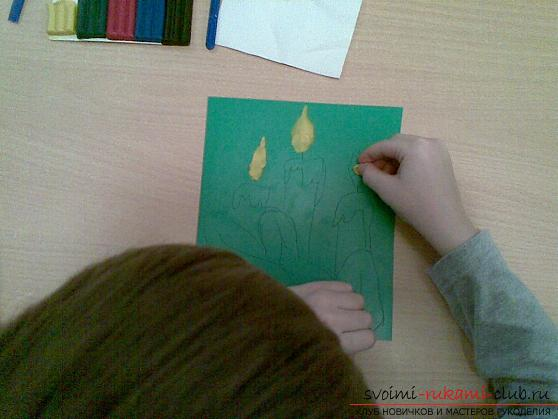Изображение картинок в технике пластилинография. Фото №3