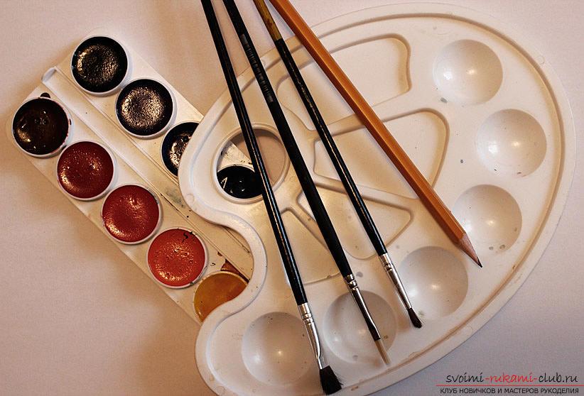 Рисование натюрморта при помощи красок акварельных. Фото №1
