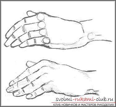 Научиться рисовать руки человека сможет каждый художник, если будет это делать поэтапно
