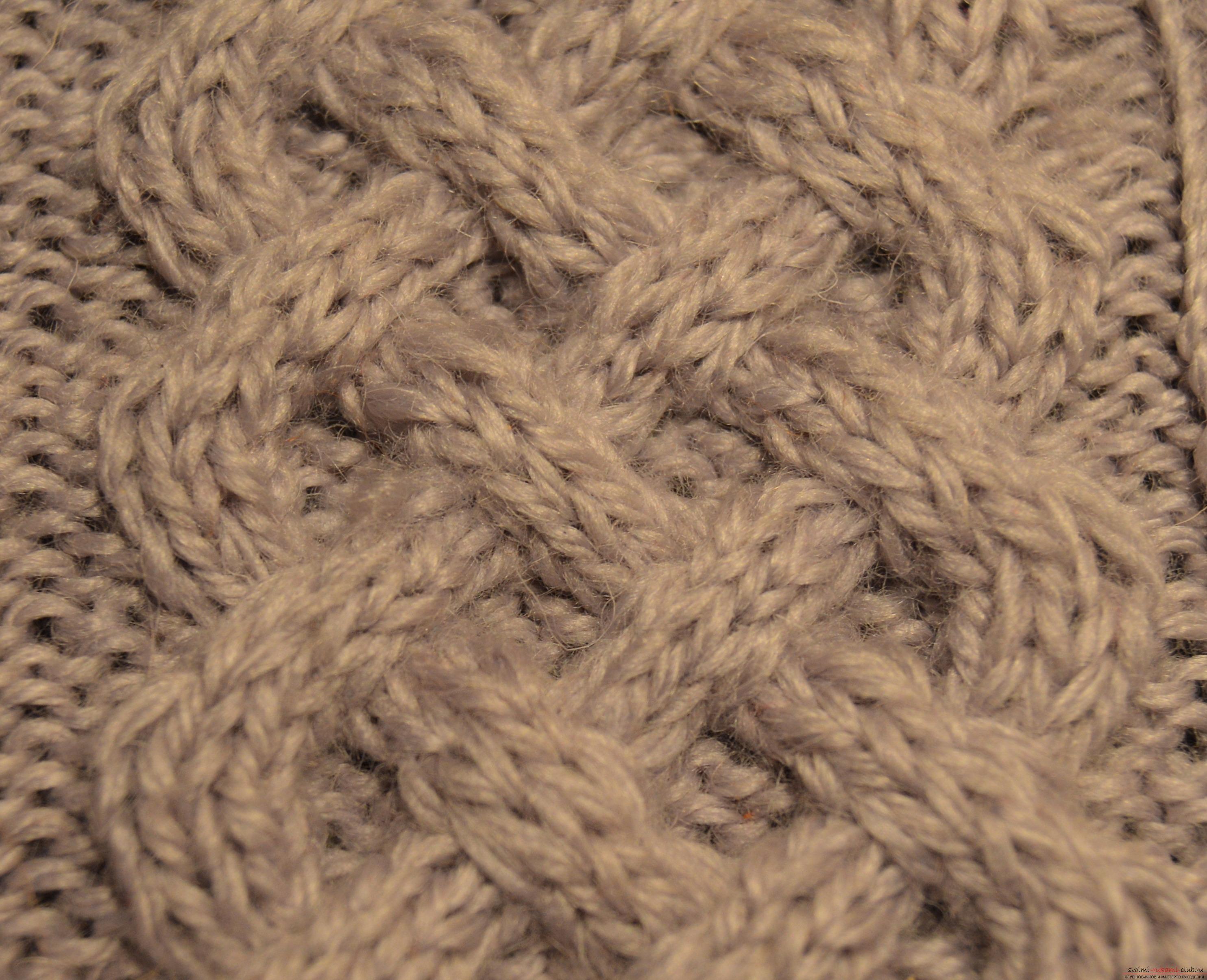 вязание спицами схема араны