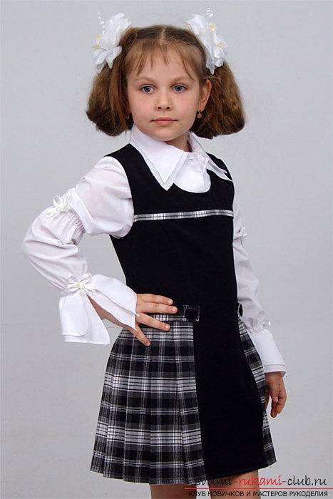Как сшить школьный сарафан для девочки своими руками