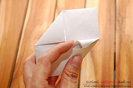 Объемный куб в технике оригами. Фото №8