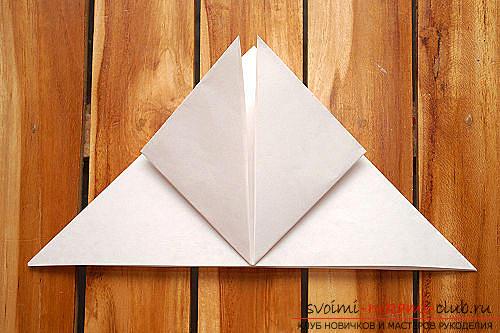 Объемный куб в технике оригами. Фото №5