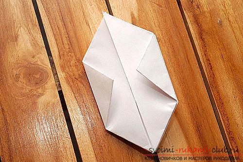 Объемный куб в технике оригами. Фото №7