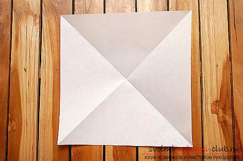 Объемный куб в технике оригами. Фото №1