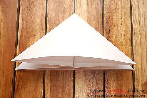 Объемный куб в технике оригами. Фото №4