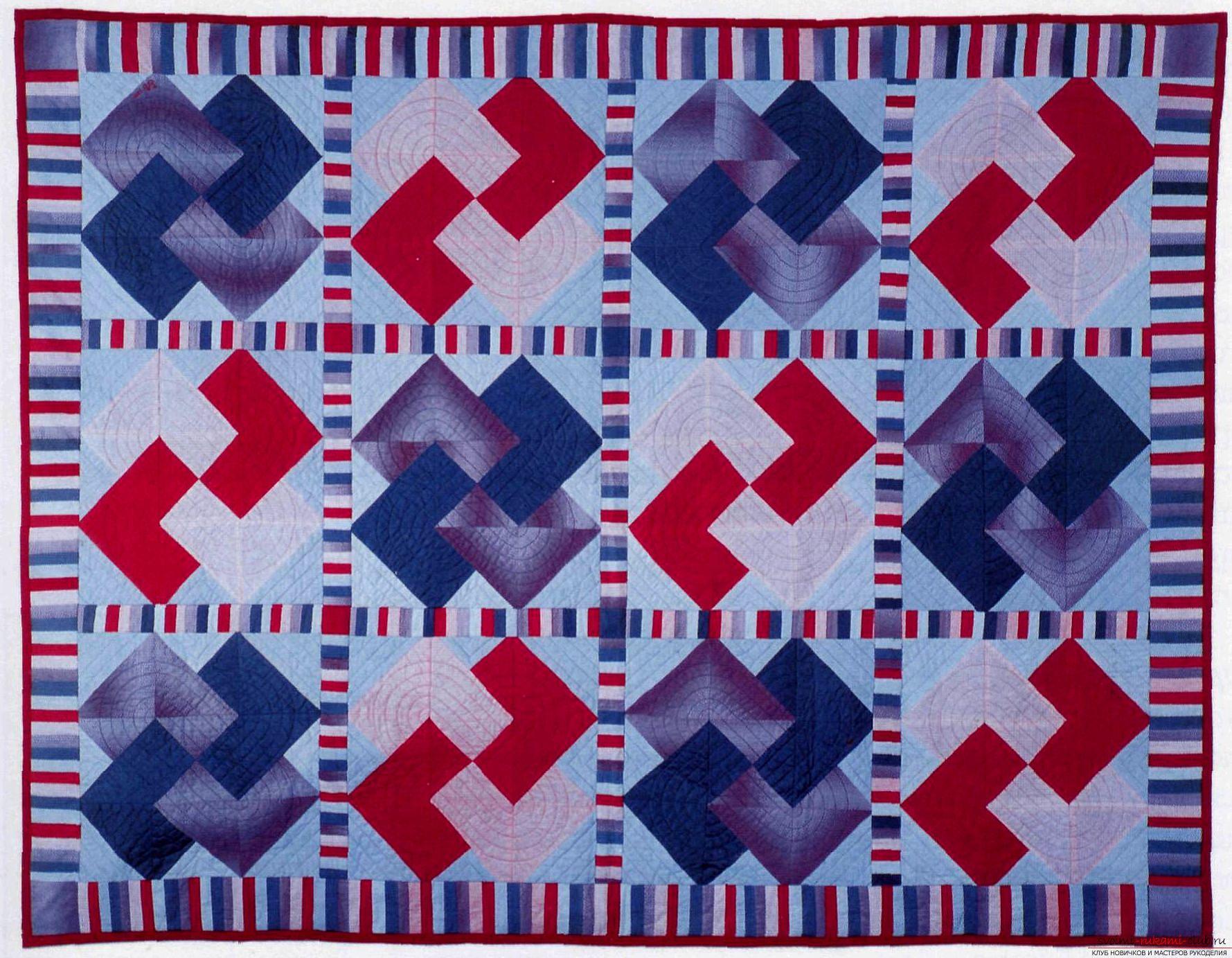 Мастер класс по пошиву одеяла в технике лоскутного шитья Карточный трюк - простой способ пошива изделия