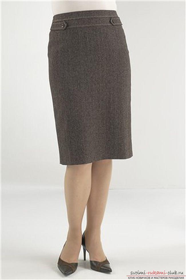 Базовая выкройка прямой юбки. Фото №1