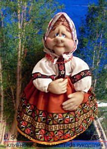 Пошив куклы из капроновых колготок и пластиковой бутылки. Фото №29