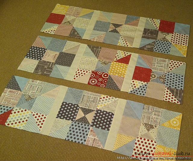 Простое искусство лоскутного шитья, схема узора Пашня в частности, способ шитья различных вещей