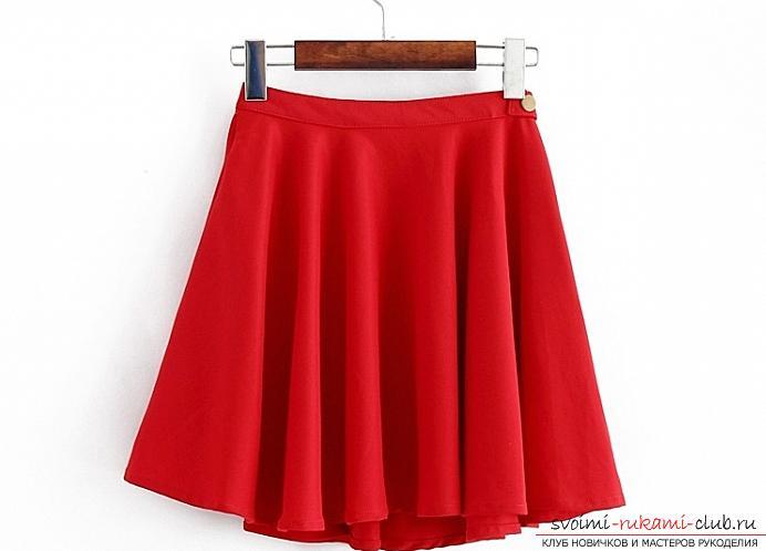 Простое шитье юбка