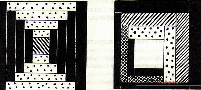 Лоскутное шитье, схема техники