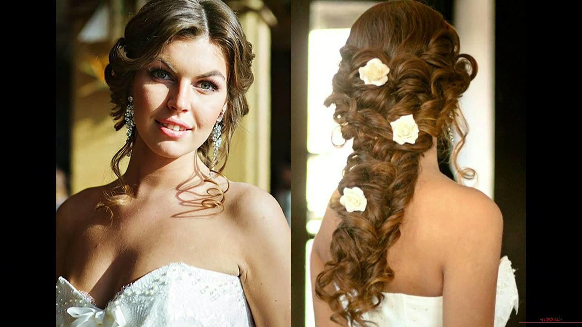современные свадебные прически для длинных волос