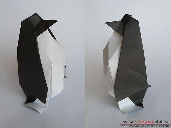 Оригами пингвин. Фото №1