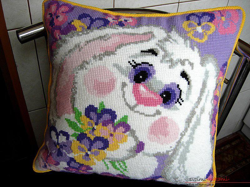 Подушка с зайчишкой, схемы