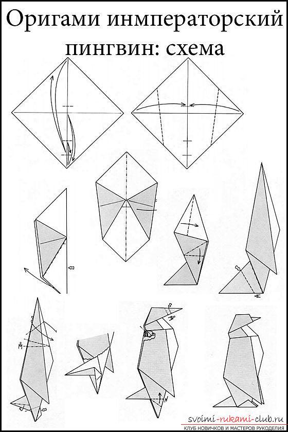 Оригами пингвин. Фото №2