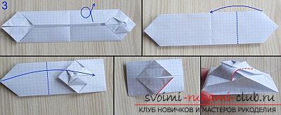 Простая модель танка из бумаги, техника оригами. Фото №3