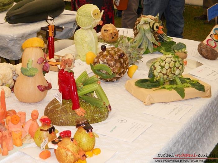 Интересные поделки из овощей своими руками. Фото №1