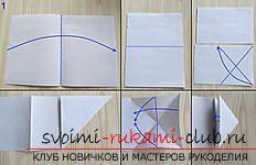 Простая модель танка из бумаги, техника оригами. Фото №1