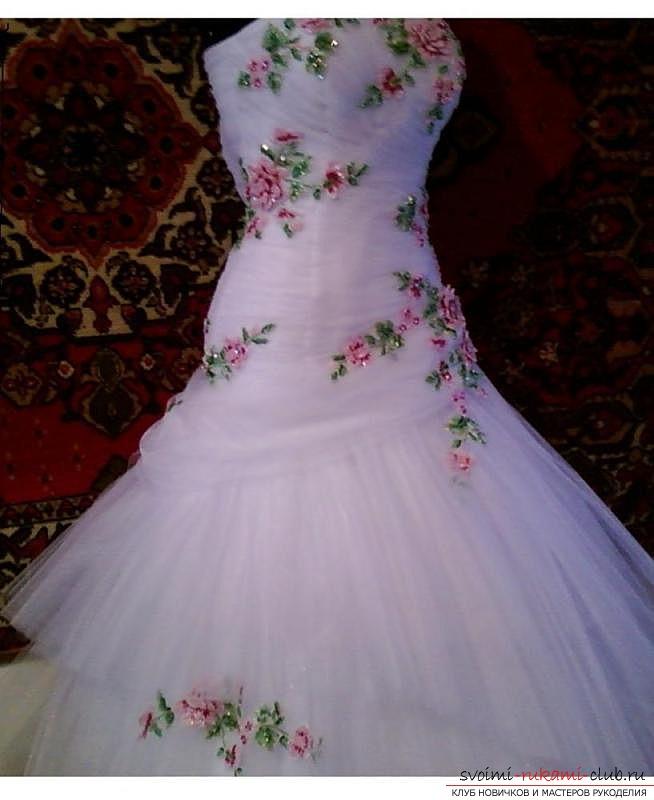 Вышивка на платье видео