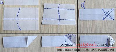 Простая модель танка из бумаги, техника оригами. Фото №5