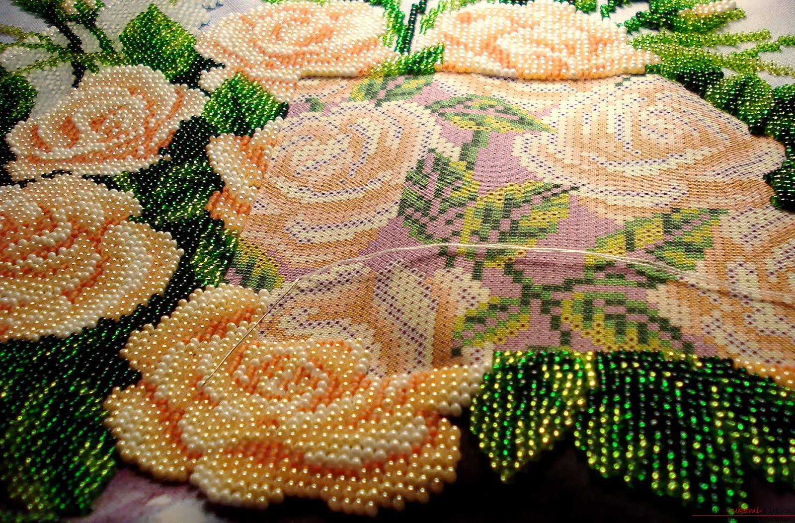 Варианты вышивки бисером самые простые