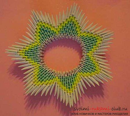 Модульное оригами. Схемы сборки декоративных тарелок. Фото №4