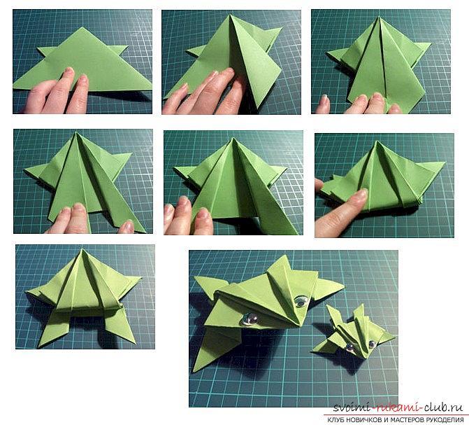 Как сделать своими руками из бумаги лягушку видео